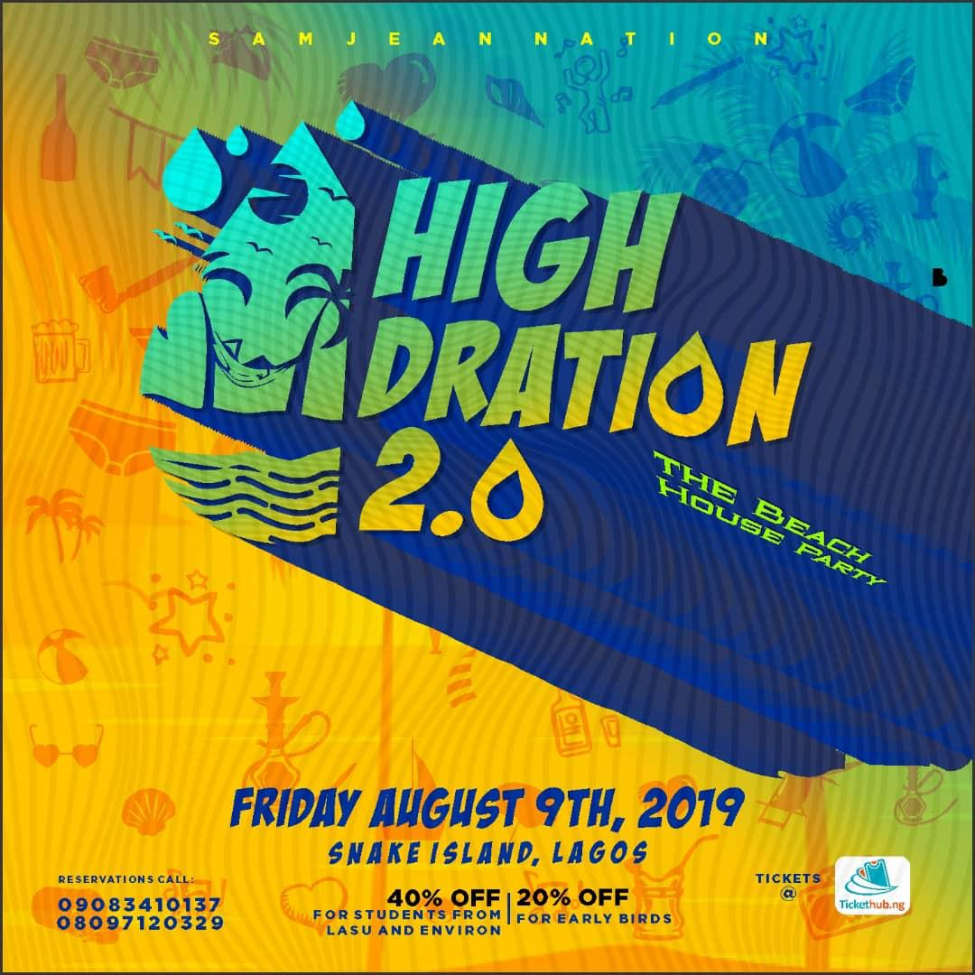 HIGHDRATION 2 (THE BEACH PARTY SERIES) Post free event in Nigeria using tickethub.ng, buy and sell tickets to event