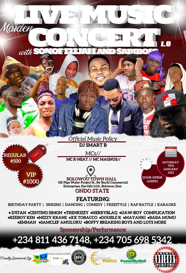 LIVE MUSIC CONCERT 1.0 Post free event in Nigeria using tickethub.ng, buy and sell tickets to event