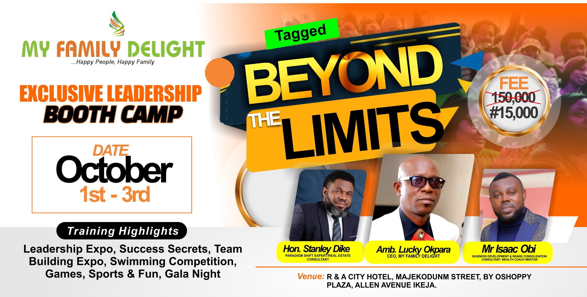 LEADERSHIP BOOTH CAMP Post free event in Nigeria using tickethub.ng, buy and sell tickets to event