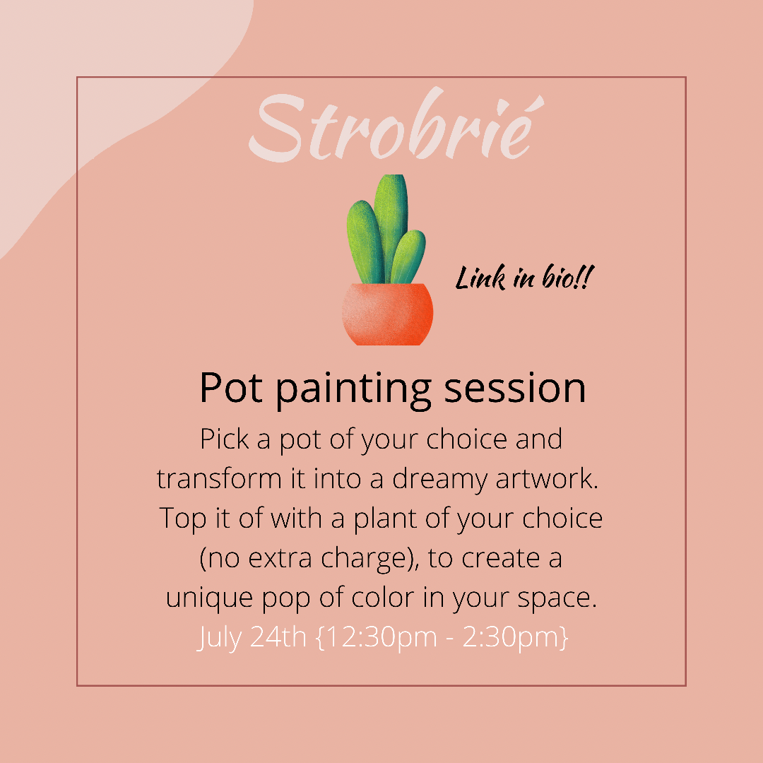 Pot painting session Post free event in Nigeria using tickethub.ng, buy and sell tickets to event