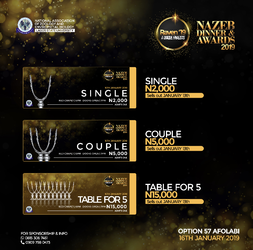 Raven Dinner/Award night Post free event in Nigeria using tickethub.ng, buy and sell tickets to event