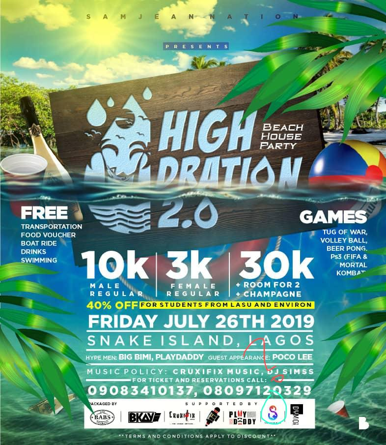 HIGHDRATION 2.0 Post free event in Nigeria using tickethub.ng, buy and sell tickets to event