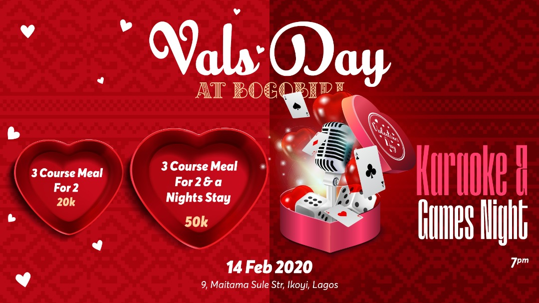 Valentines Day At Bogobiri House Post free event in Nigeria using tickethub.ng, buy and sell tickets to event