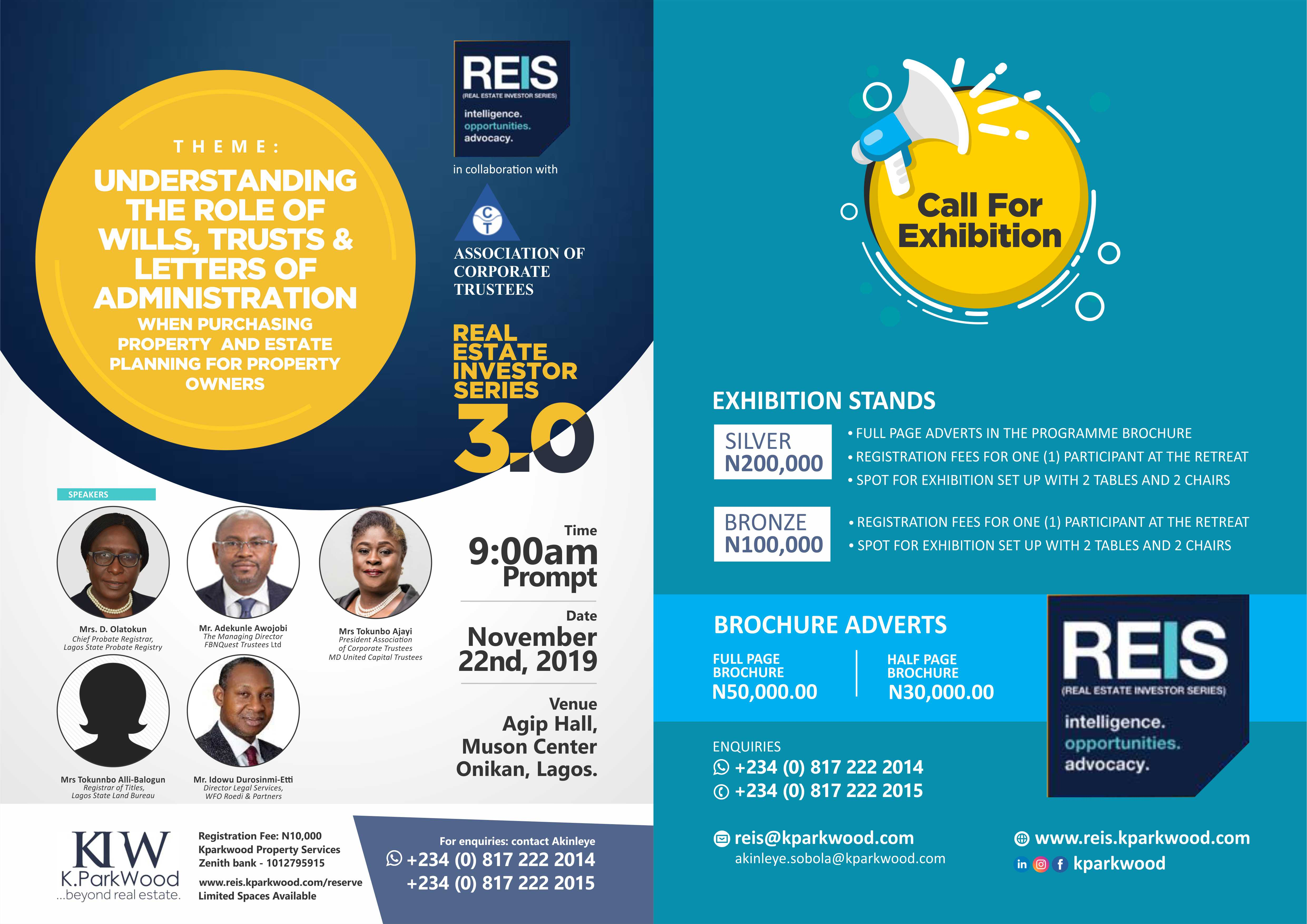 REAL ESTATE INVESTOR SERIES 3RD EDITION (REIS 3.0) Post free event in Nigeria using tickethub.ng, buy and sell tickets to event