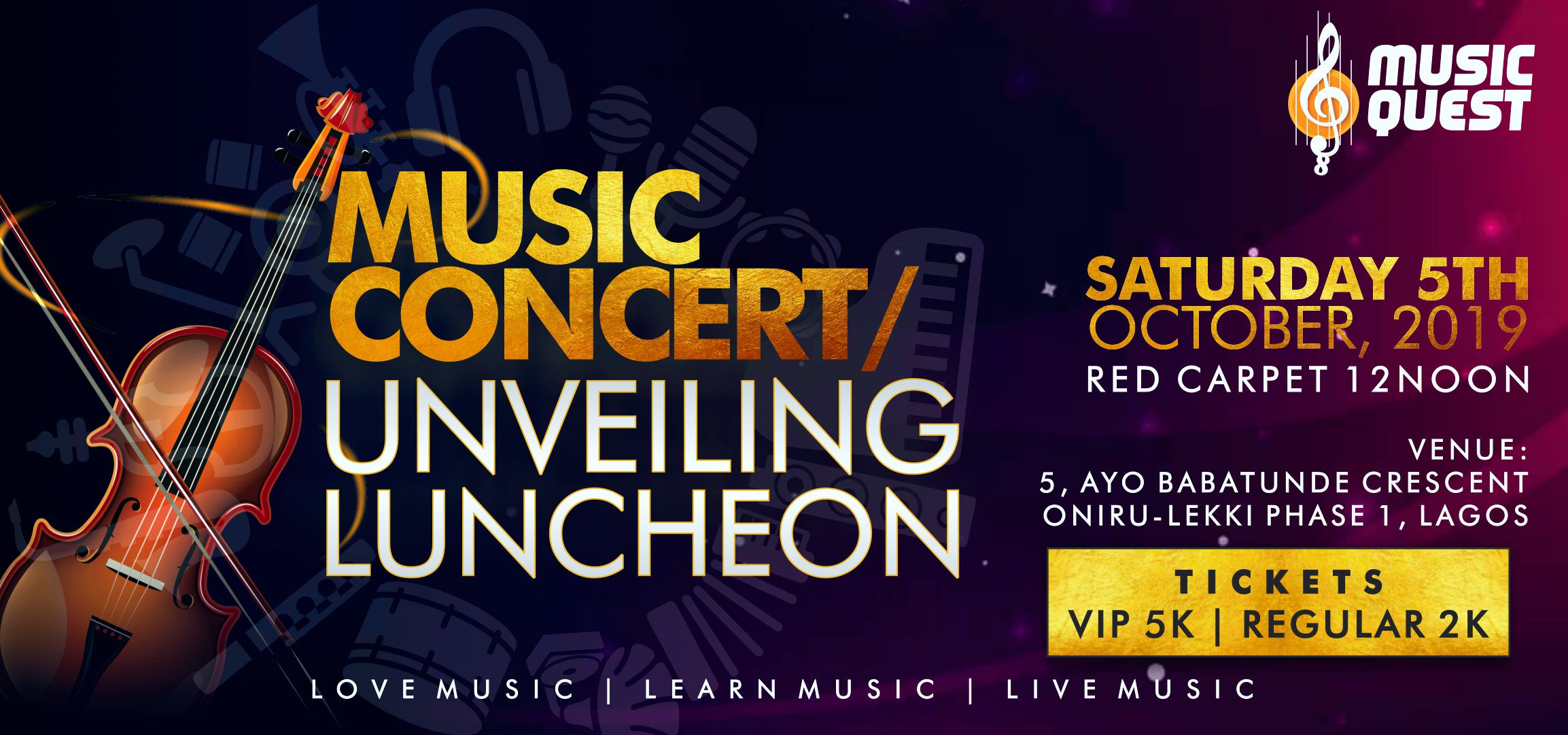 Music Concert & Unveiling Luncheon Post free event in Nigeria using tickethub.ng, buy and sell tickets to event