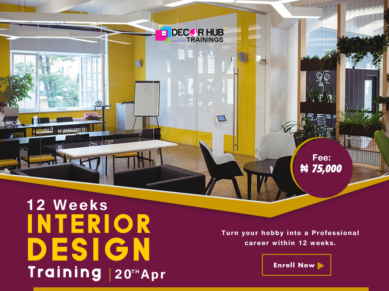 12 Weeks Interior Design Training Post free event in Nigeria using tickethub.ng, buy and sell tickets to event