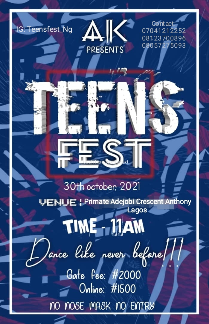 Teens Fest Post free event in Nigeria using tickethub.ng, buy and sell tickets to event