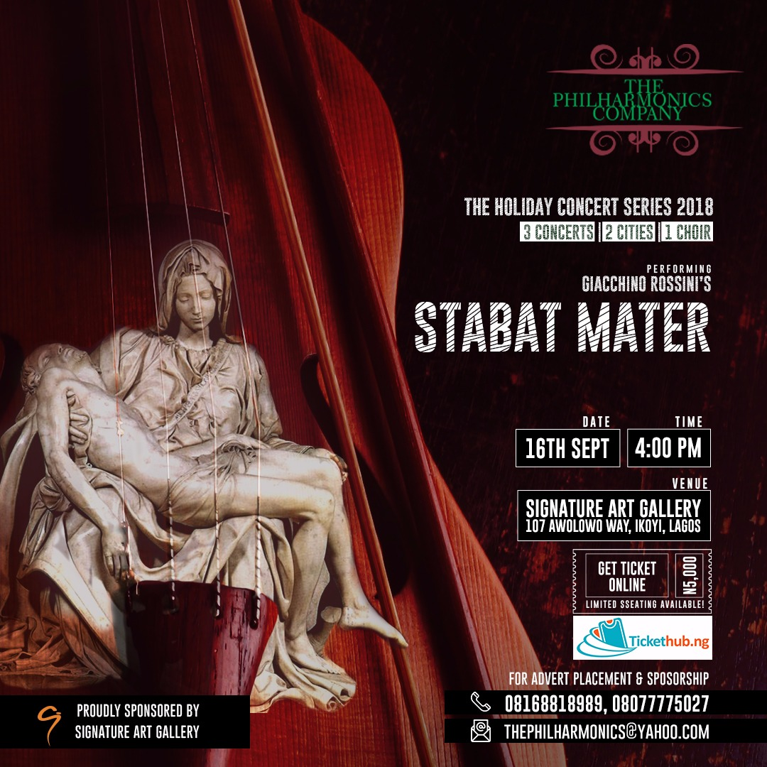 STABAT MATER Post free event in Nigeria using tickethub.ng, buy and sell tickets to event