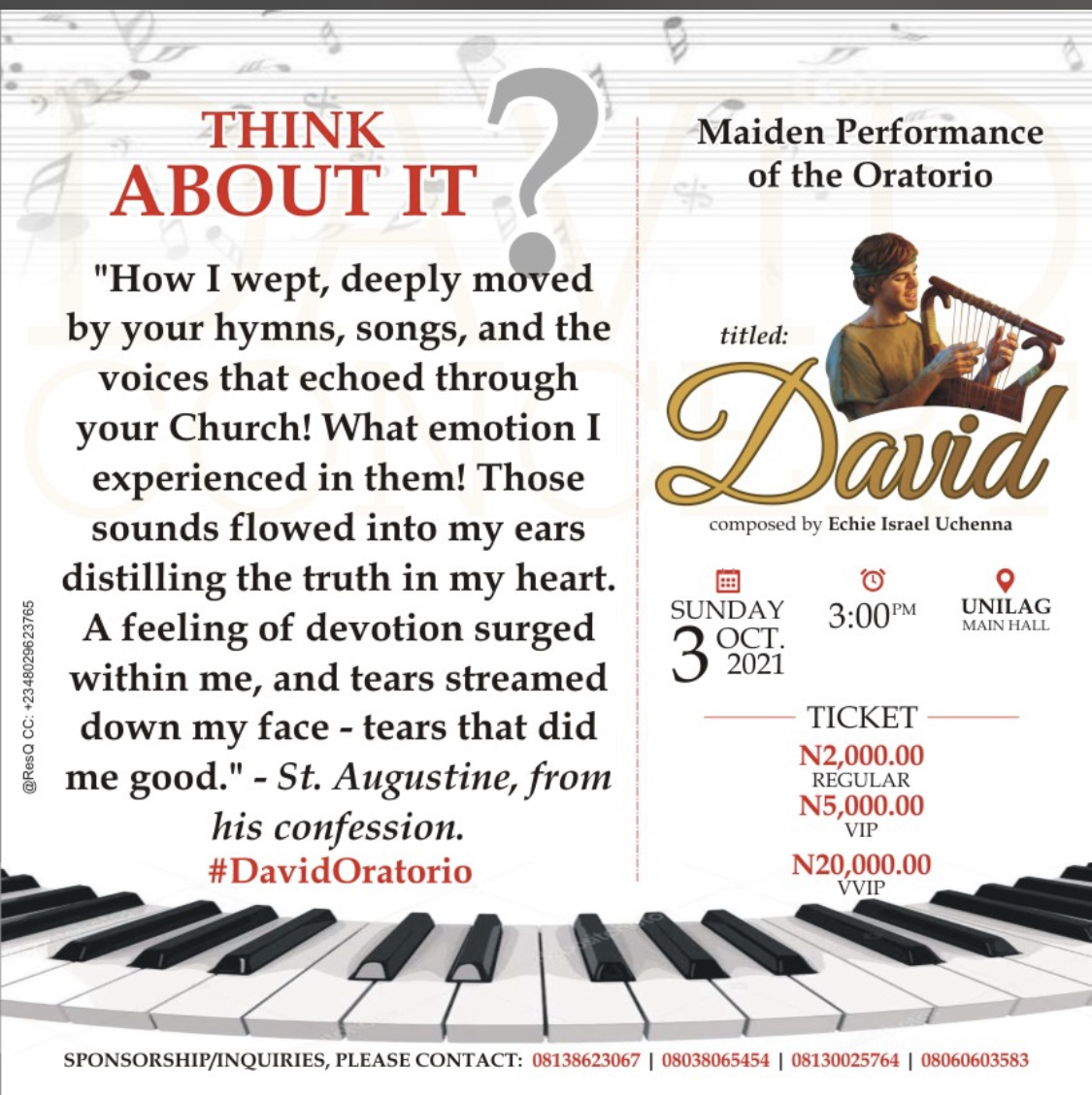 Maiden Performance of the Oratorio