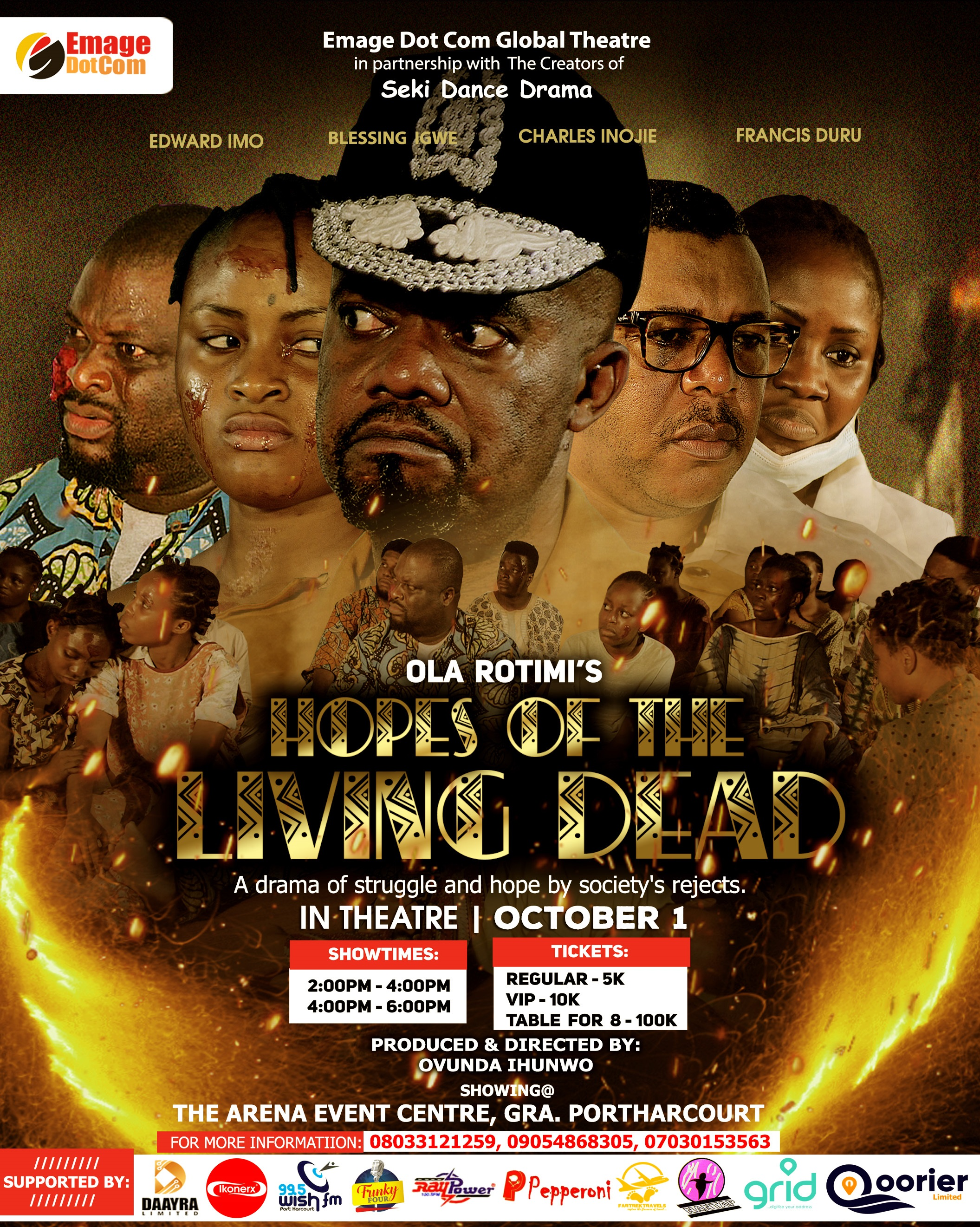 HOPES OF THE LIVING DEAD (A Stage Play) Post free event in Nigeria using tickethub.ng, buy and sell tickets to event