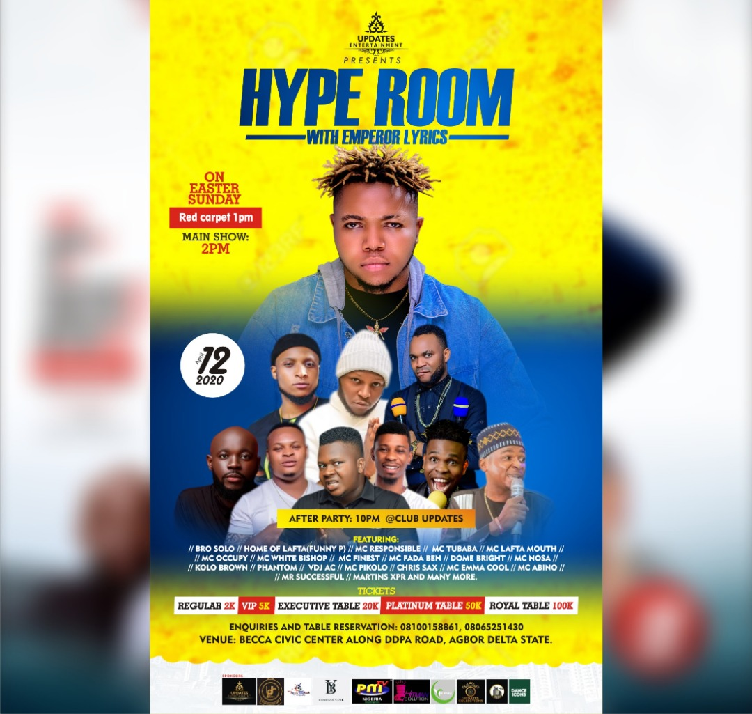 Hype Room Post free event in Nigeria using tickethub.ng, buy and sell tickets to event