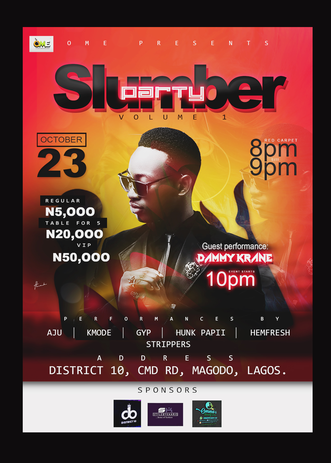OME Slumber party Post free event in Nigeria using tickethub.ng, buy and sell tickets to event