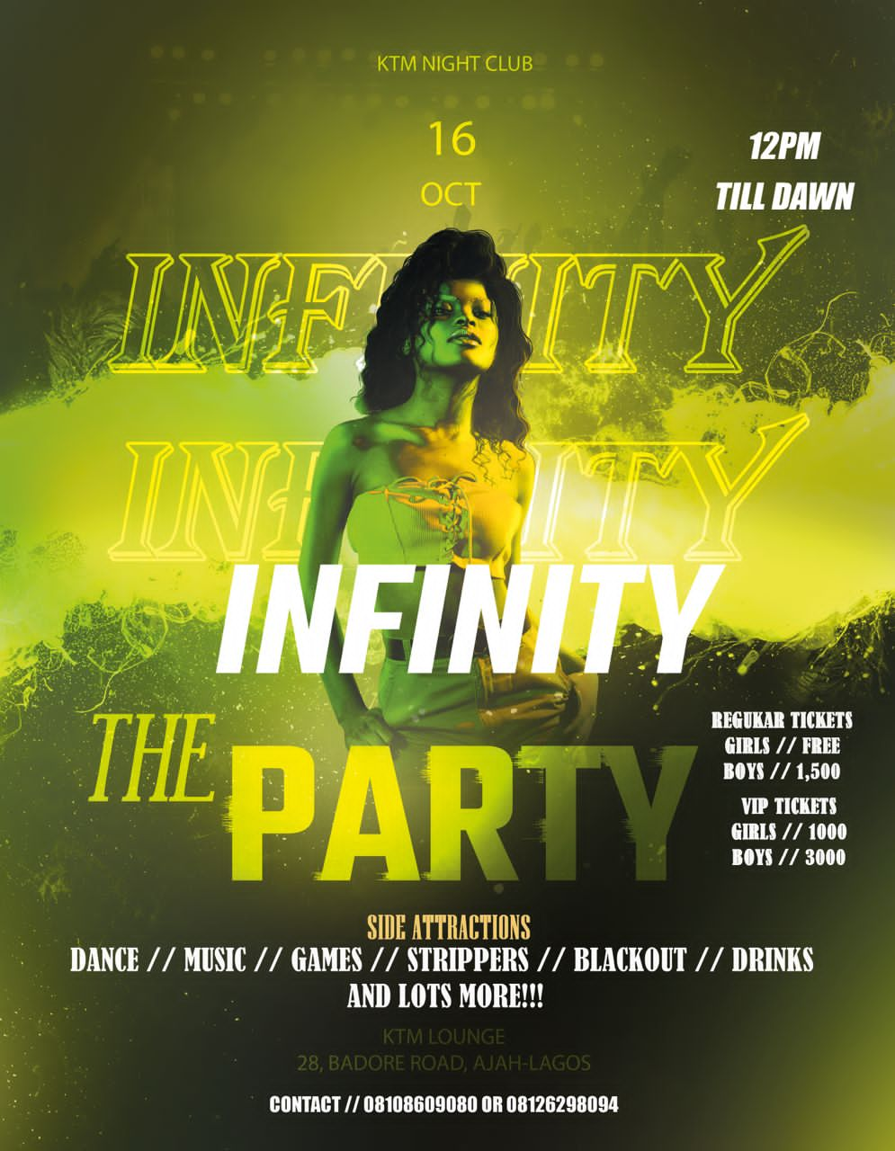 Infinity The party Post free event in Nigeria using tickethub.ng, buy and sell tickets to event