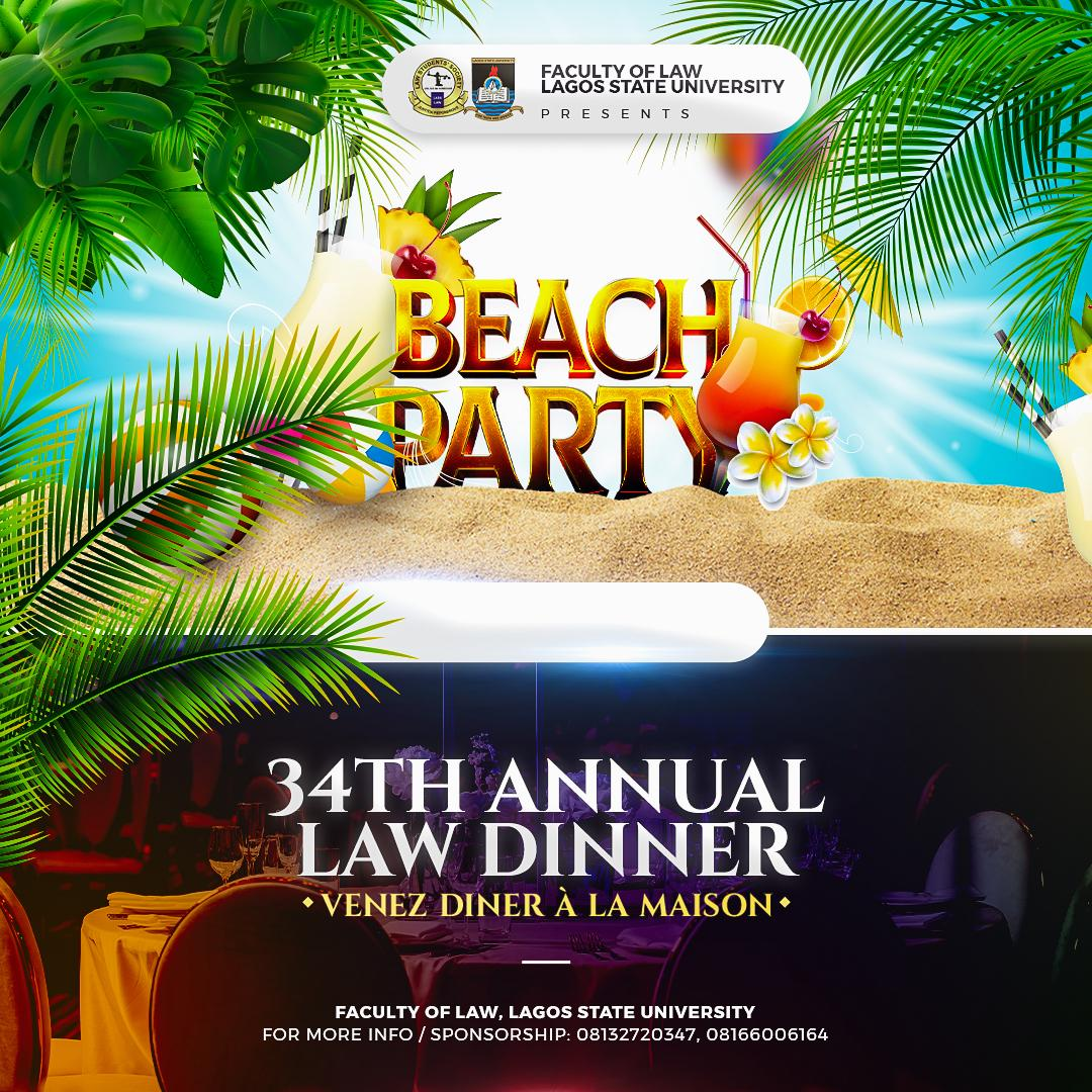 LASULAWS 34TH ANNUAL LAW DINNER Post free event in Nigeria using tickethub.ng, buy and sell tickets to event