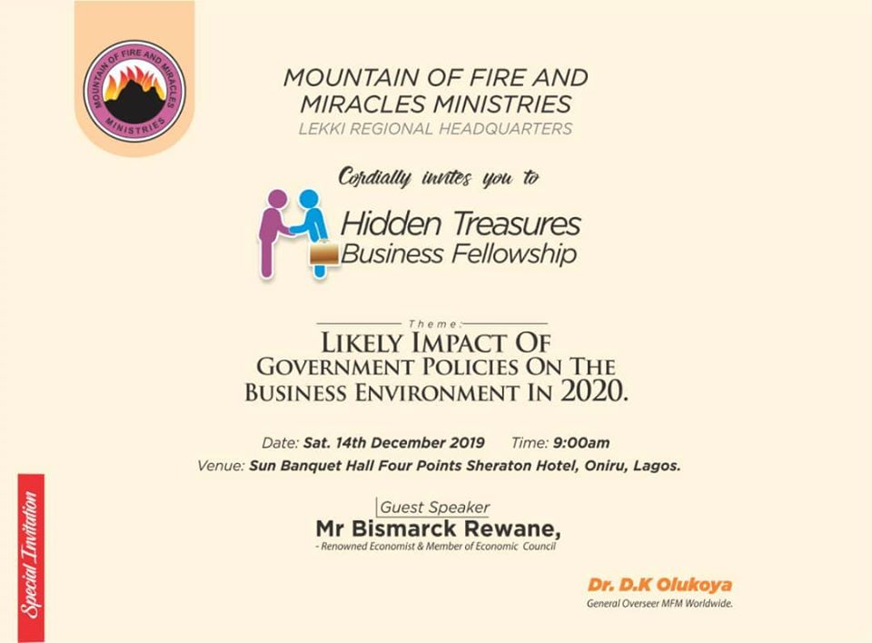 HIDDEN TREASURE BUSINESS FELLOWSHIP Post free event in Nigeria using tickethub.ng, buy and sell tickets to event