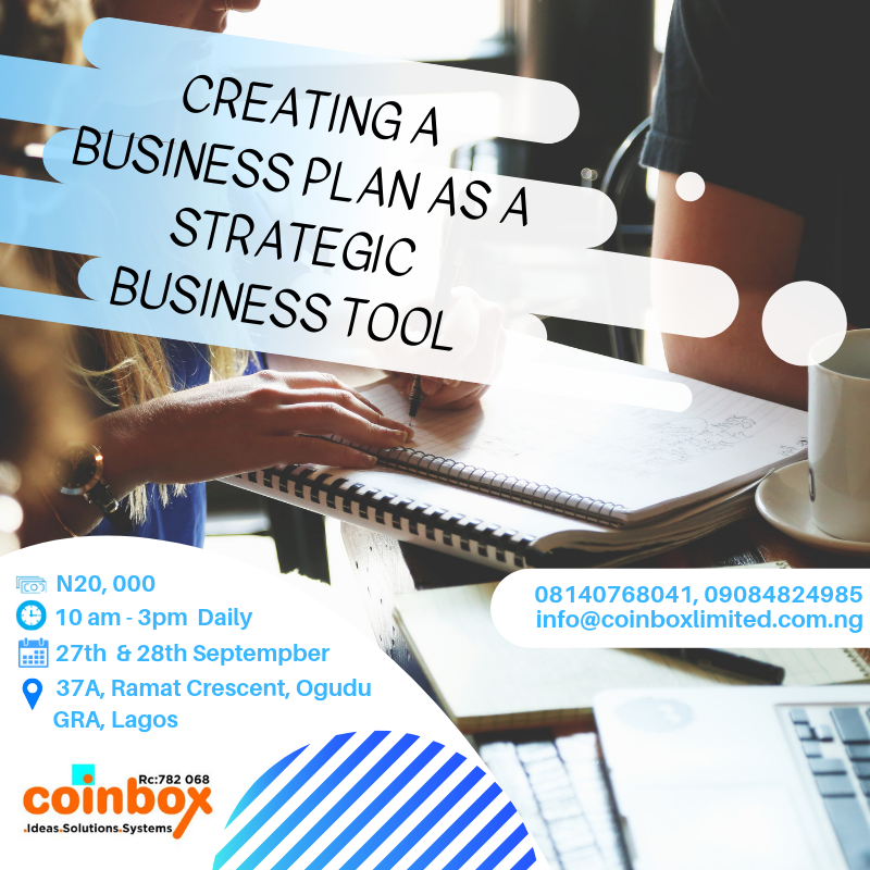 CREATING A BUSINESS PLAN AS A STRATEGIC BUSINESS TOOL Post free event in Nigeria using tickethub.ng, buy and sell tickets to event