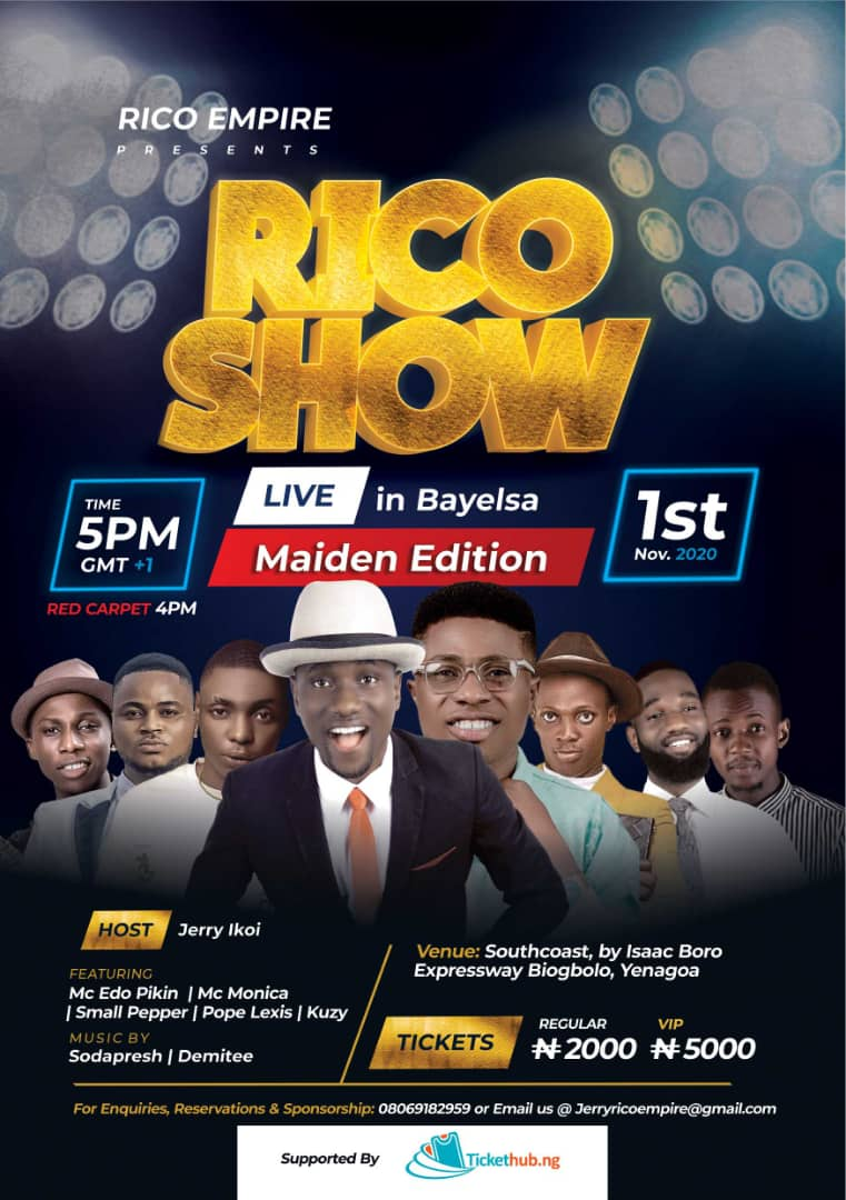 Rico Show Post free event in Nigeria using tickethub.ng, buy and sell tickets to event