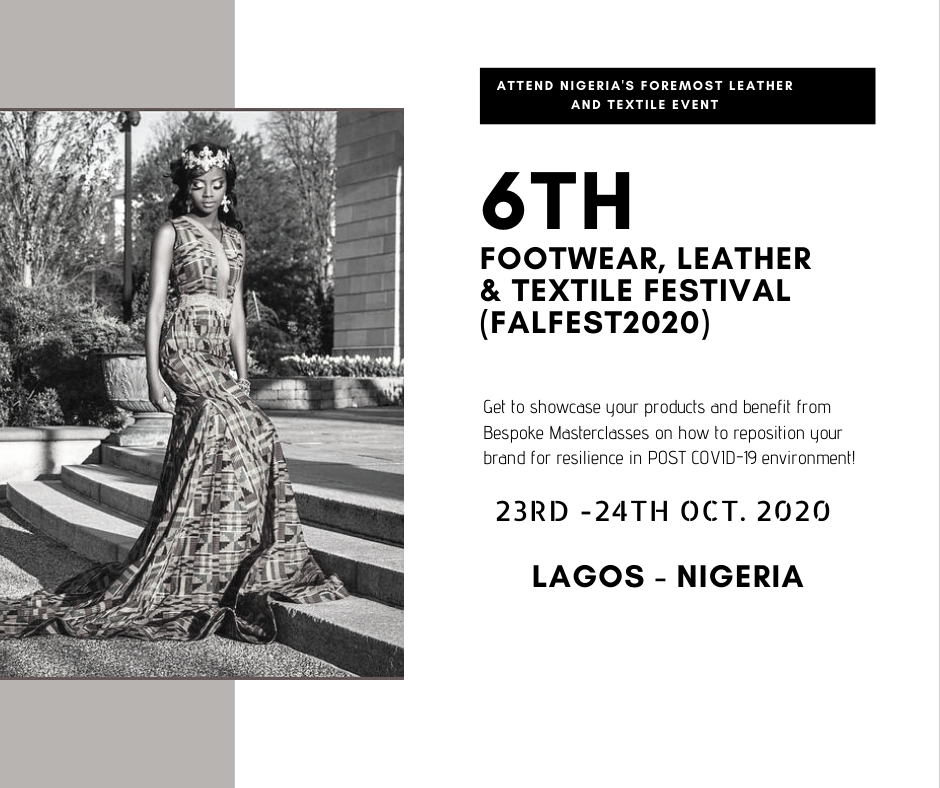 6th Footwear, Leather and Textile Festival (FALFEST 2020) Post free event in Nigeria using tickethub.ng, buy and sell tickets to event