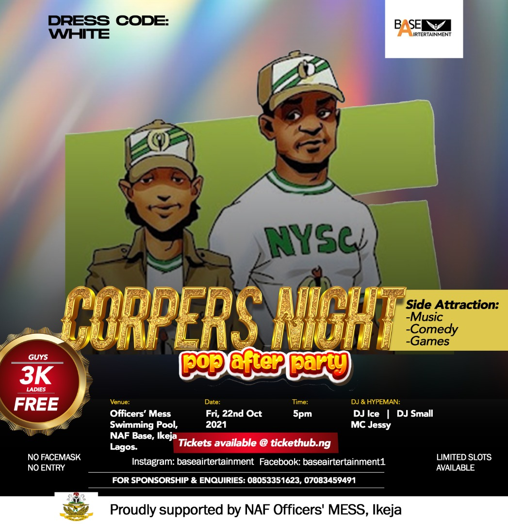 Corpers Night/POP After-party Post free event in Nigeria using tickethub.ng, buy and sell tickets to event