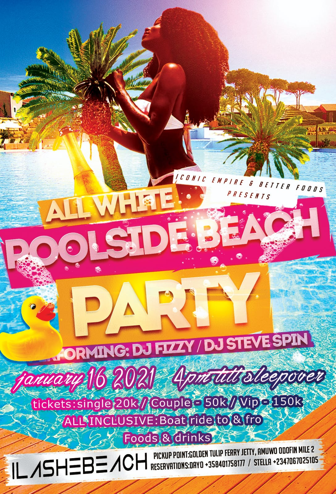 All white beach pool side party Post free event in Nigeria using tickethub.ng, buy and sell tickets to event