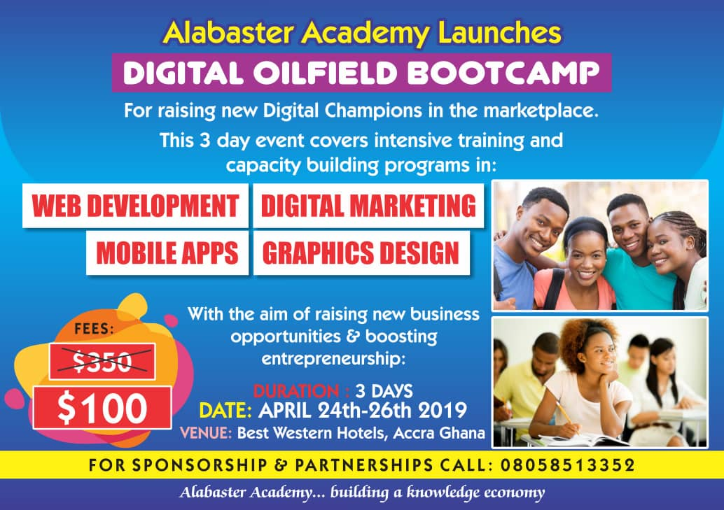 DIGITAL OILFIELD BOOTCAMP 2019 Post free event in Nigeria using tickethub.ng, buy and sell tickets to event