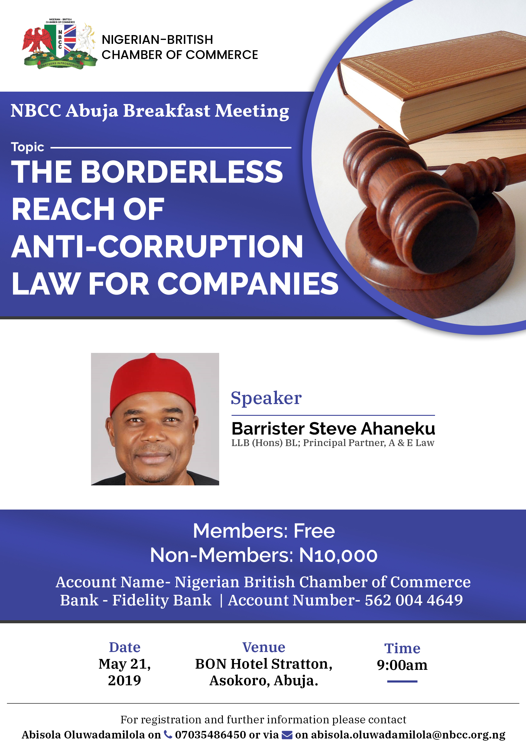 NBCC Abuja Breakfast Meeting Post free event in Nigeria using tickethub.ng, buy and sell tickets to event