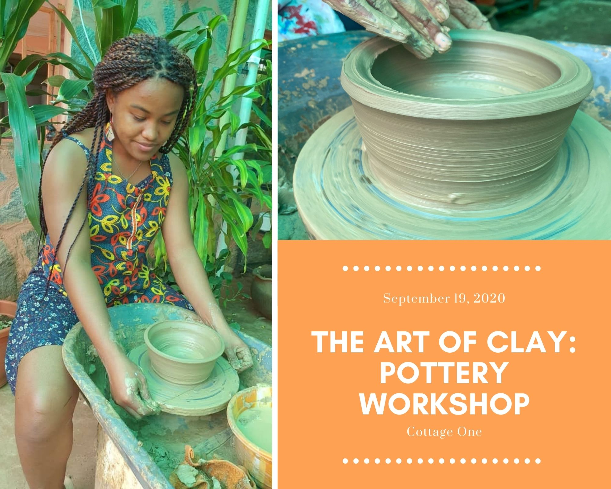 Pottery Workshop at Cottage One Post free event in Nigeria using tickethub.ng, buy and sell tickets to event