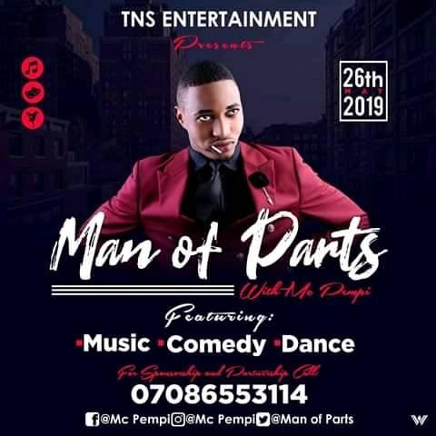 Man Of Parts 2019 Post free event in Nigeria using tickethub.ng, buy and sell tickets to event