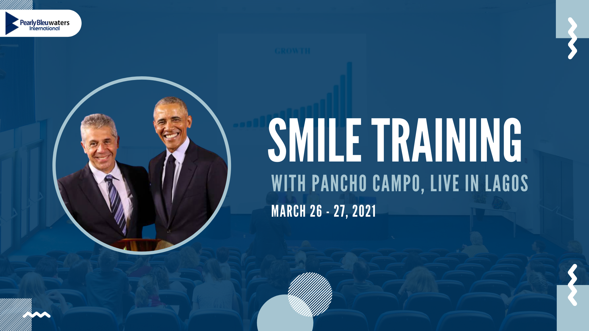 Smile Training with Pancho Campo Live in Lagos Post free event in Nigeria using tickethub.ng, buy and sell tickets to event