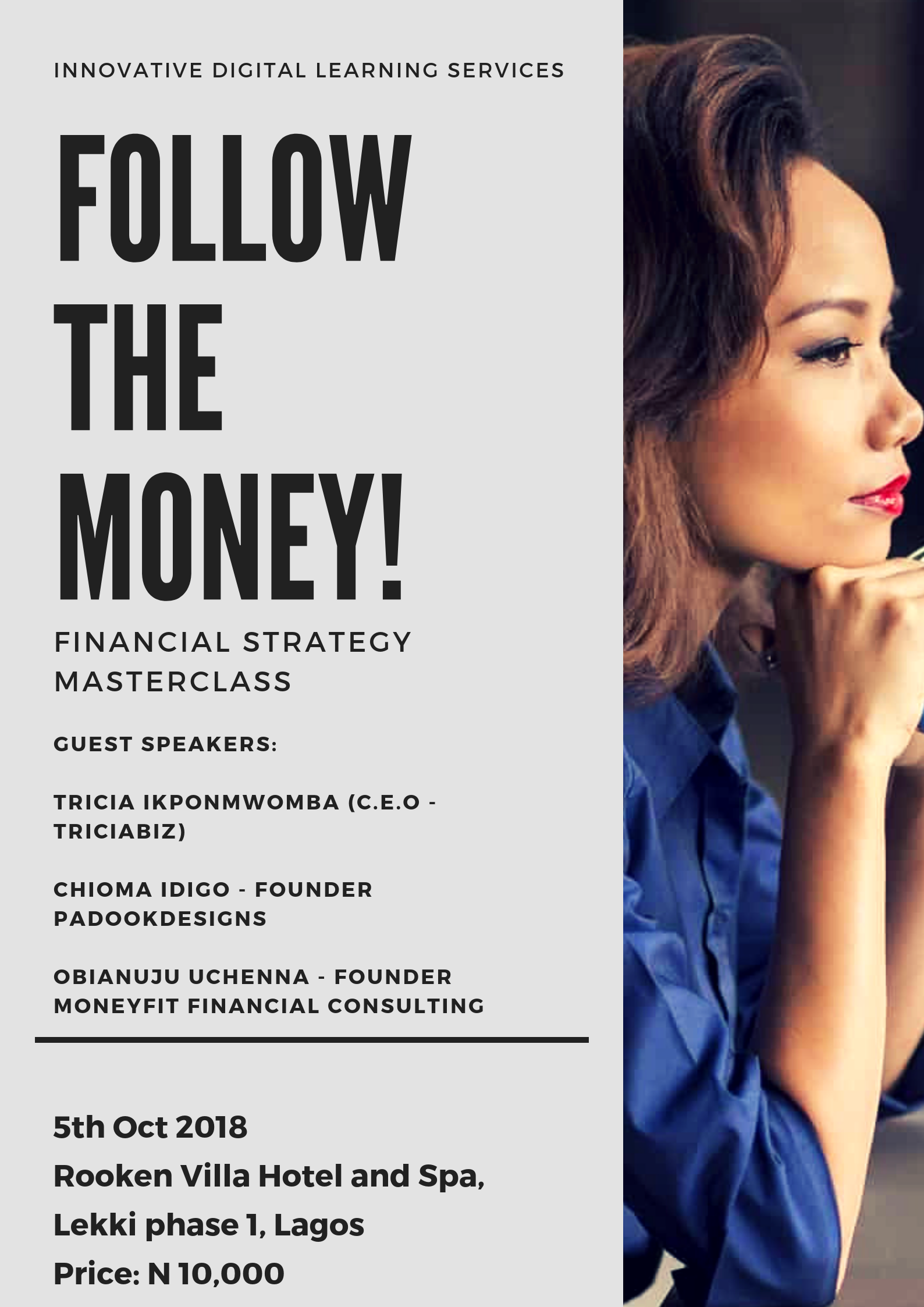 FTM (Follow the Money) Financial Strategy Masterclass Post free event in Nigeria using tickethub.ng, buy and sell tickets to event
