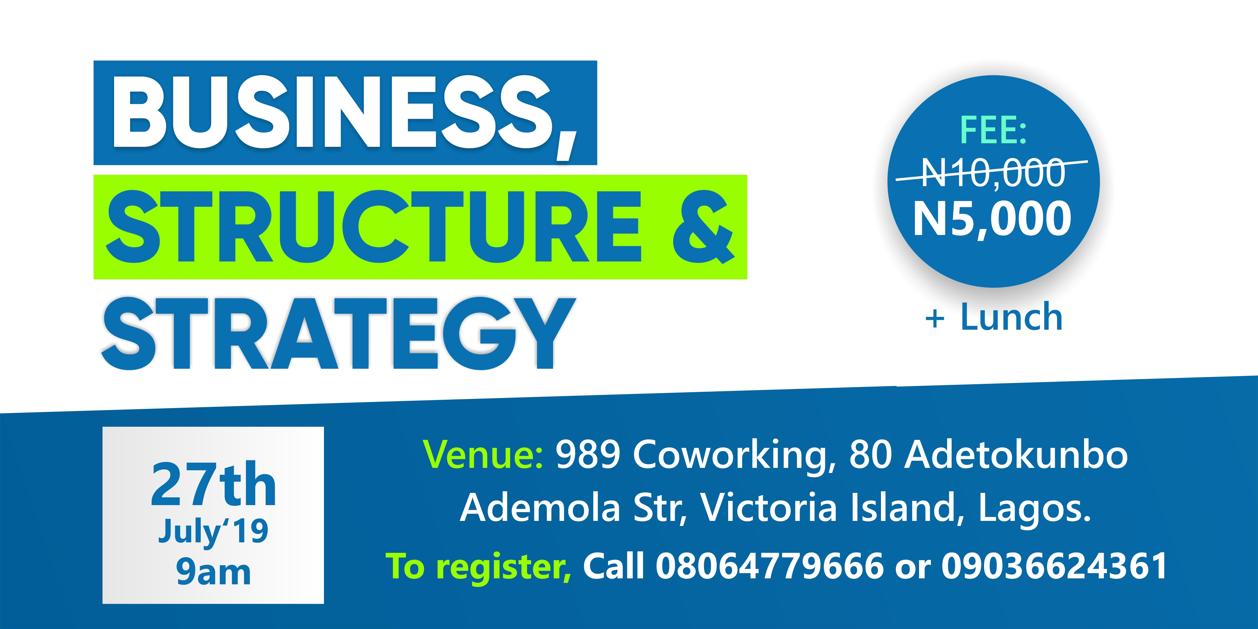 Business, Structure and Strategy Post free event in Nigeria using tickethub.ng, buy and sell tickets to event