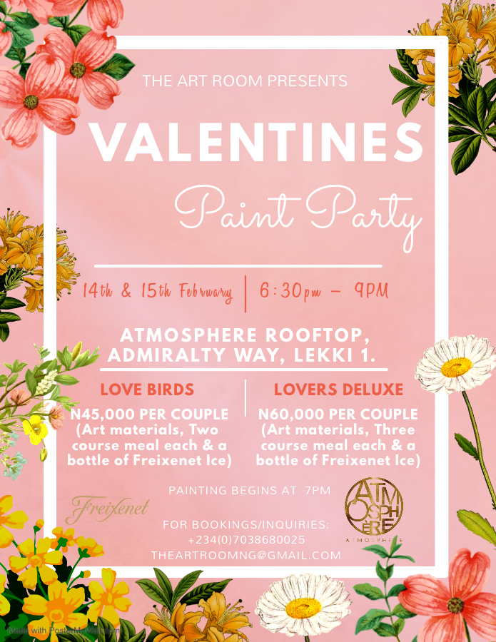 Valentines Paint Party Post free event in Nigeria using tickethub.ng, buy and sell tickets to event