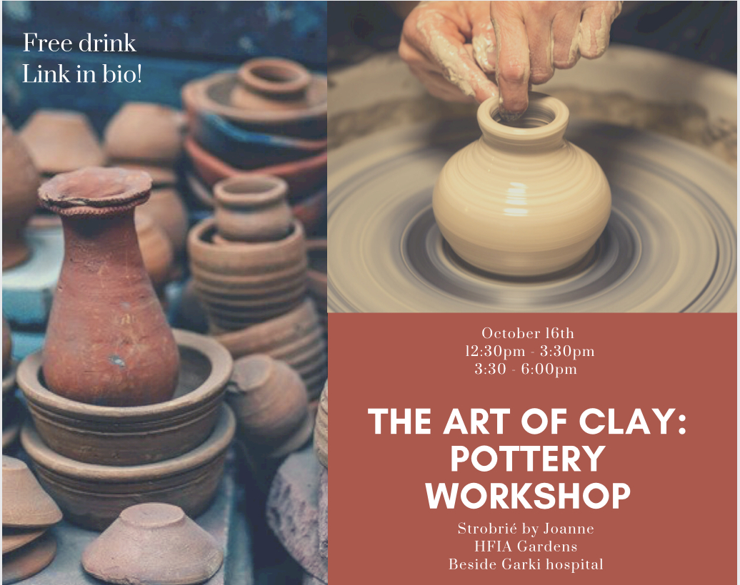 Pottery Workshop Post free event in Nigeria using tickethub.ng, buy and sell tickets to event