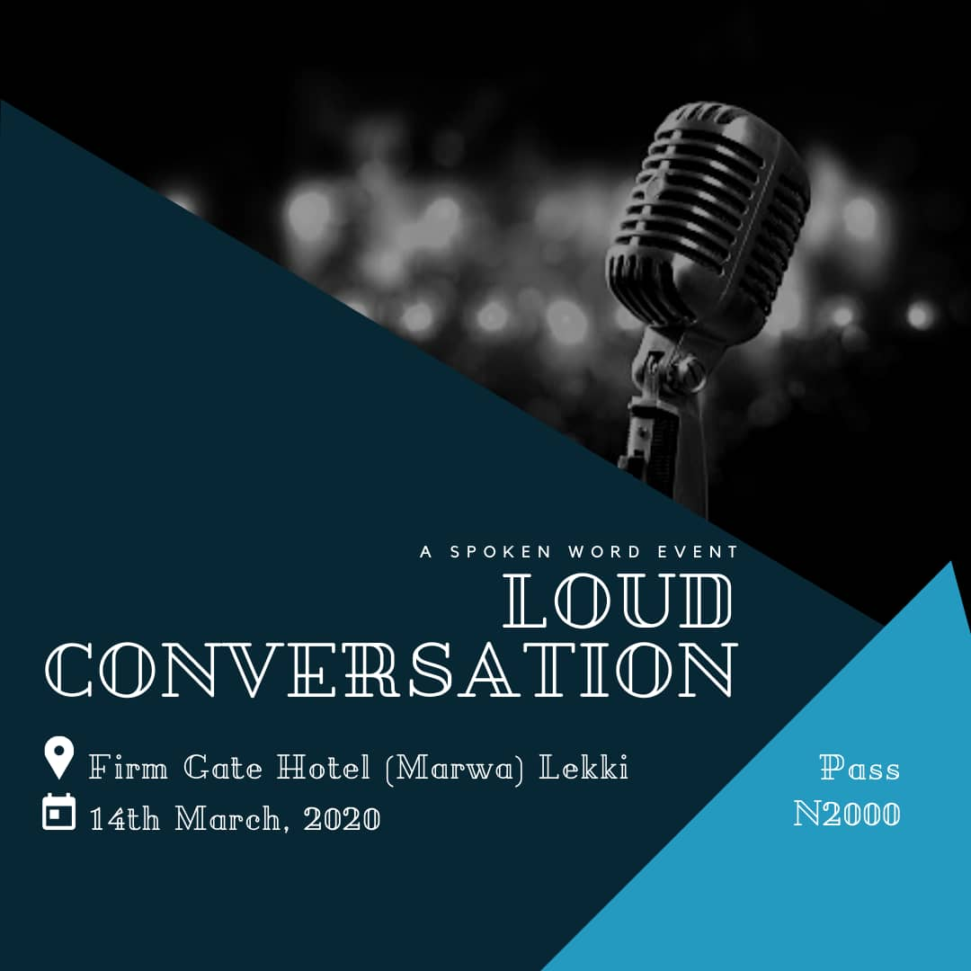 Loud Conversation (Spoken word event) Post free event in Nigeria using tickethub.ng, buy and sell tickets to event