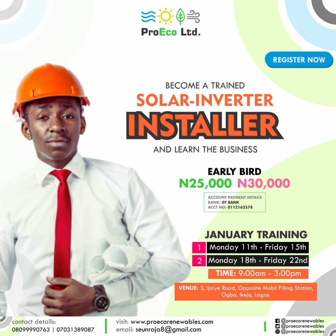 Advance Solar and Inverter Training Post free event in Nigeria using tickethub.ng, buy and sell tickets to event