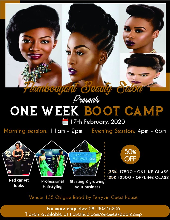 One week  Boot camp Post free event in Nigeria using tickethub.ng, buy and sell tickets to event