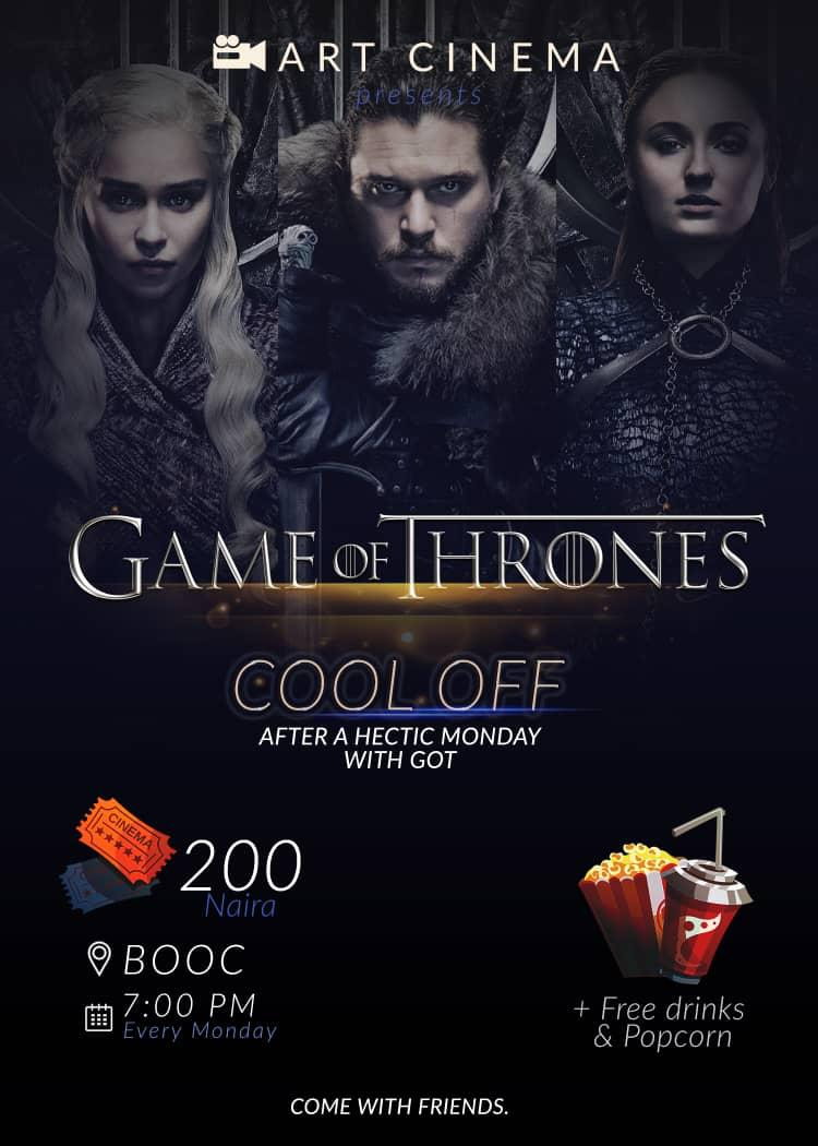 #GOT Monday Hangout Post free event in Nigeria using tickethub.ng, buy and sell tickets to event