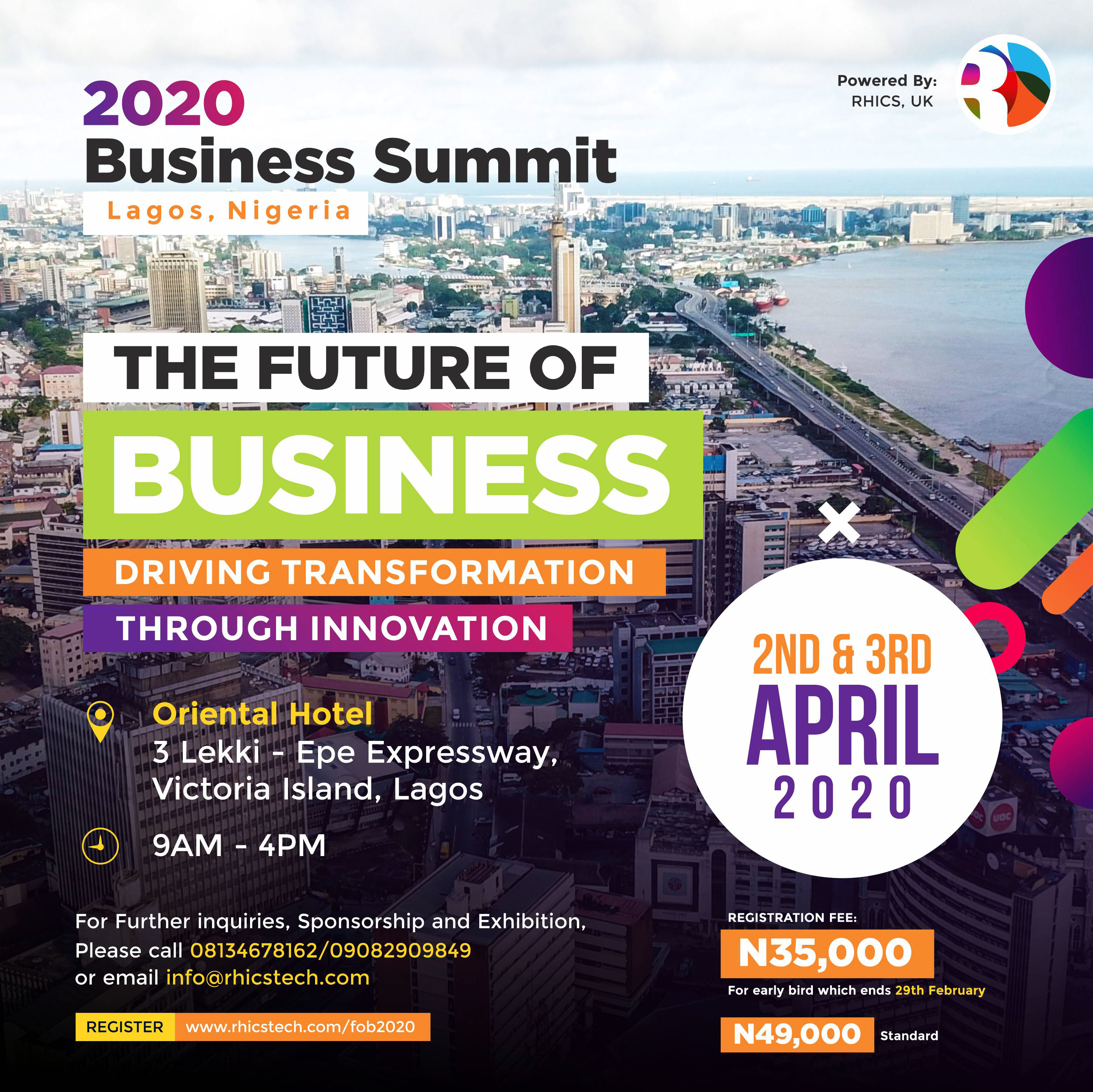 2020 Lagos Business Summit Post free event in Nigeria using tickethub.ng, buy and sell tickets to event