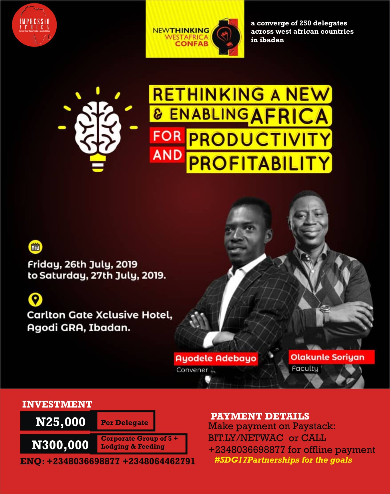 NEWTHINKING WEST AFRICA CONFAB Post free event in Nigeria using tickethub.ng, buy and sell tickets to event