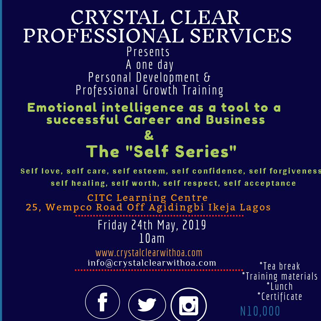 Emotional Intelligence as a tool to successful career & business and the self-series Post free event in Nigeria using tickethub.ng, buy and sell tickets to event