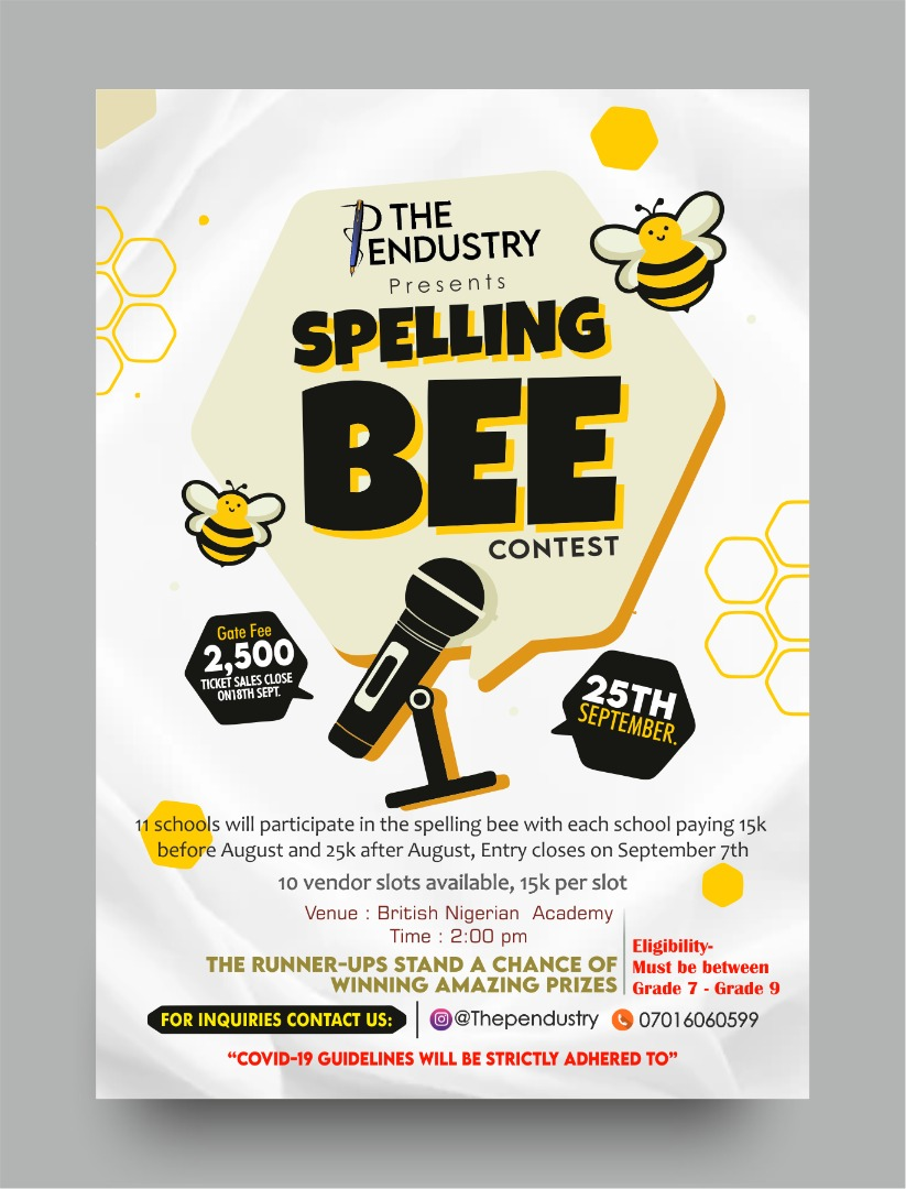 The Pendustry Spelling Bee Competition 2021 Post free event in Nigeria using tickethub.ng, buy and sell tickets to event
