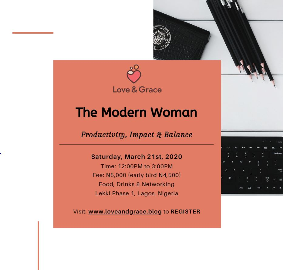 The Modern Woman: Productivity, Impact & Balance Post free event in Nigeria using tickethub.ng, buy and sell tickets to event