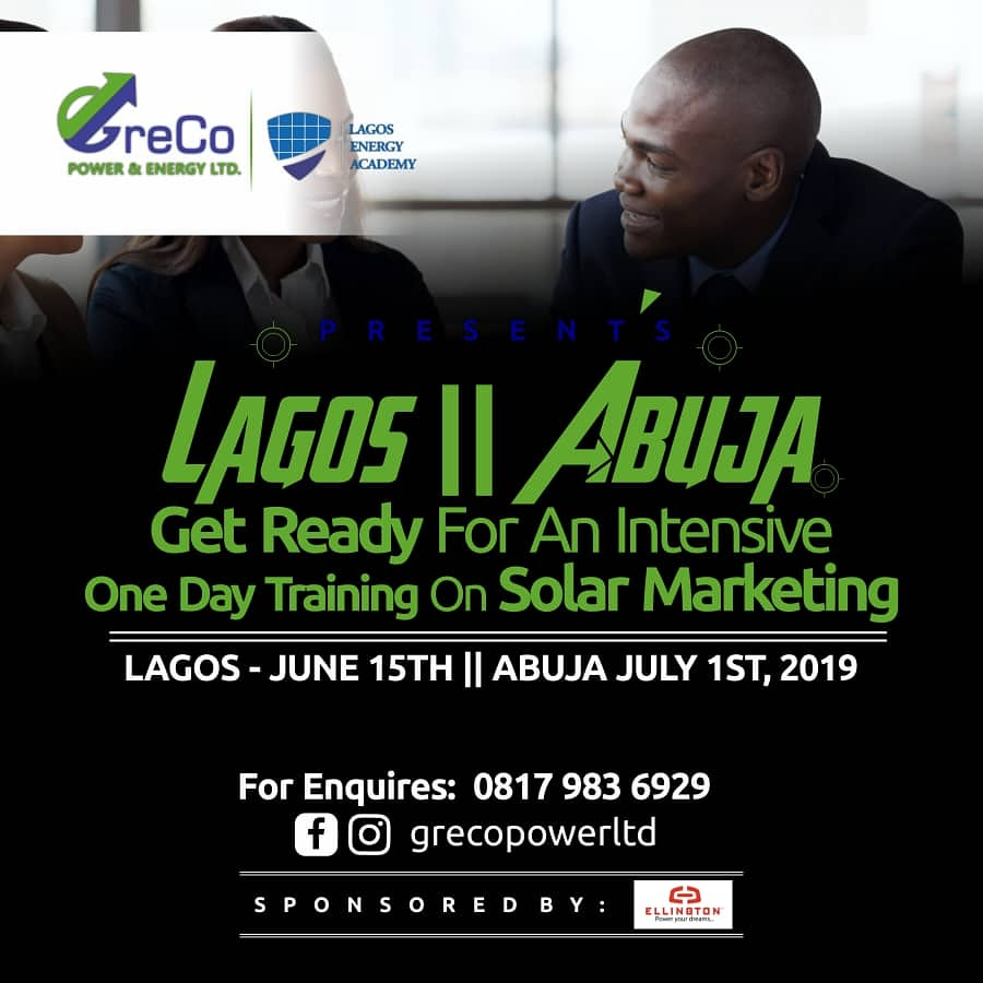 Get tickets to One Day Training On Solar Marketing on Tickethub ng