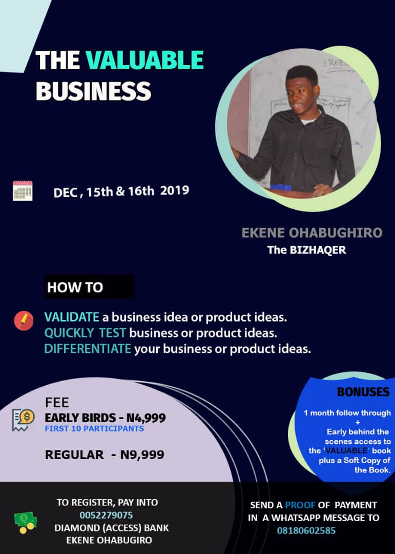 THE VALUABLE BUSINESS WEBINAR Post free event in Nigeria using tickethub.ng, buy and sell tickets to event