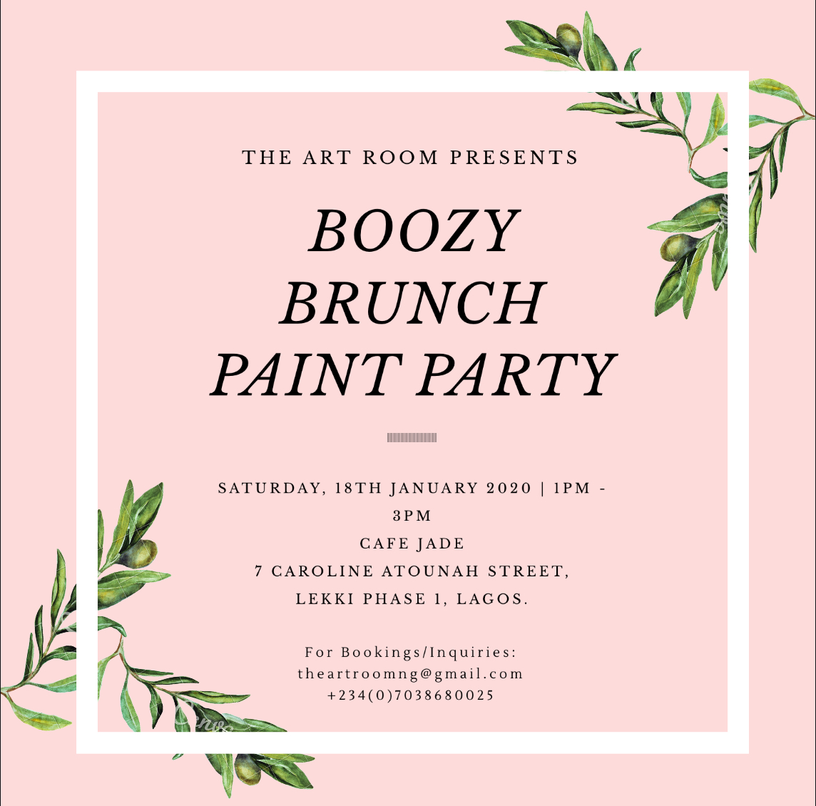 Boozy Brunch Paint Party Post free event in Nigeria using tickethub.ng, buy and sell tickets to event