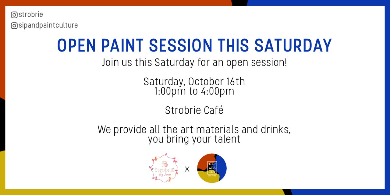 Open Paint Session! - October 16th Post free event in Nigeria using tickethub.ng, buy and sell tickets to event