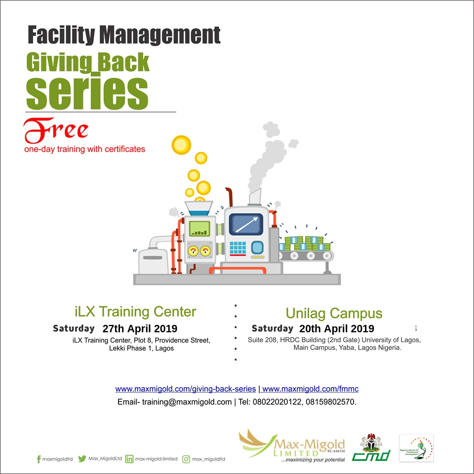Free Facility Management Giving Back Series Post free event in Nigeria using tickethub.ng, buy and sell tickets to event