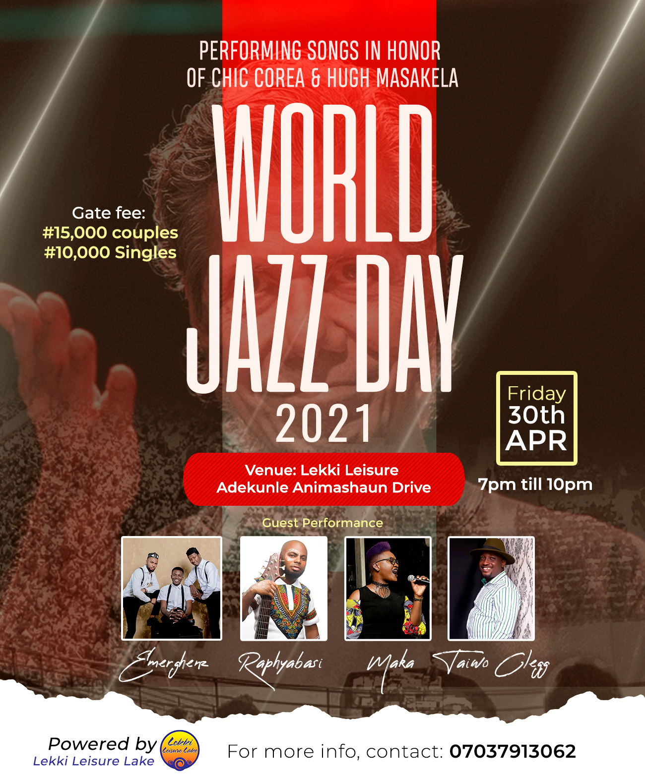 World Jazz Day 2021 - Lekki Leisure Jazz Festival Post free event in Nigeria using tickethub.ng, buy and sell tickets to event