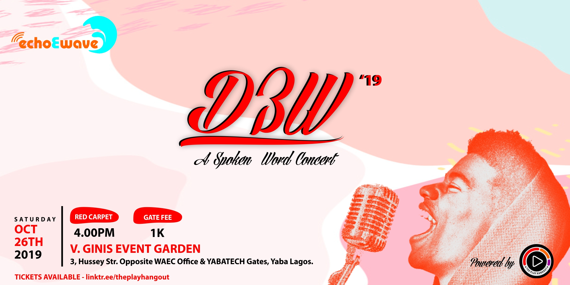D3W SPOKEN WORD CONCERT Post free event in Nigeria using tickethub.ng, buy and sell tickets to event