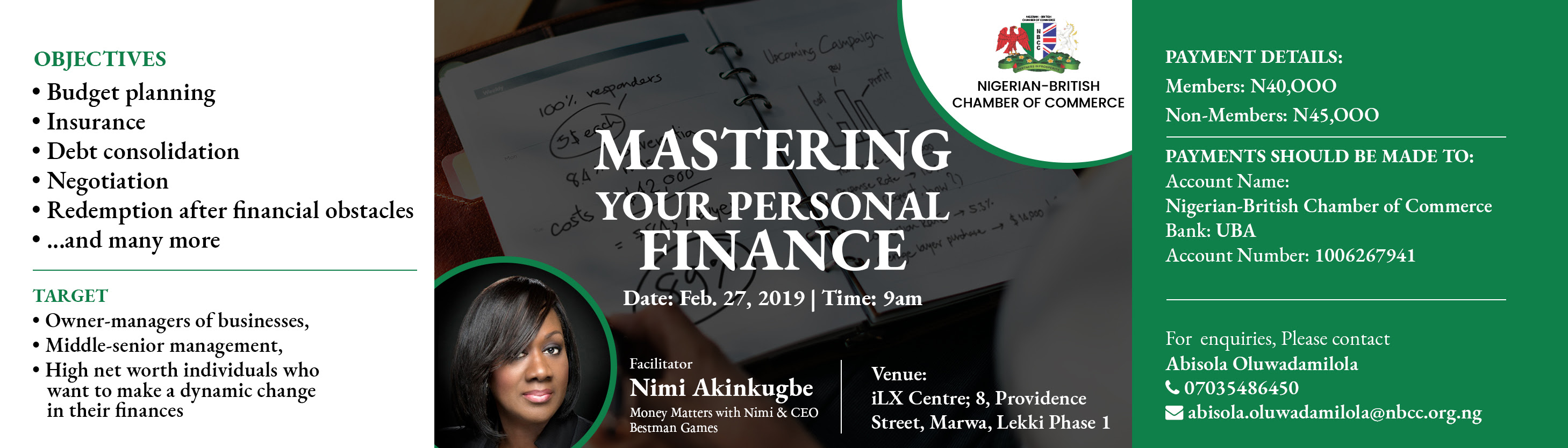 Mastering Your Personal Finance Post free event in Nigeria using tickethub.ng, buy and sell tickets to event